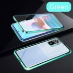 Magnetic Metal Frame Case for RedMi Note 10 10s 10 Pro Casing Tempered Glass Fully Wrapped Side Magnetic Case Shockproof Case Glass Hard Cover