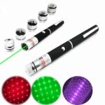 Upgrade High Power Laser Pointer Pen 5mW Mini Starry Sight Green Purple Red Cat Toys Lazer Pointer Light Military Hunting