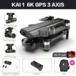 New KAI ONE Pro Drone 6K 8K GPS 5G WIFI HD Mechanical 3-Axis Gimbal Dual Camera Flying 25 Minute Rc Distance 1.2km rc Quadcopter