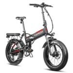 FAFREES F7 Plus 750W 4.0 Fat Tire 45 KMPH Folding Electric Bicycle PANASONIC 48V 13.6Ah Removable Battery Beach Snow Electric Bike for Adults