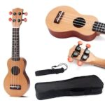 17 inch Ukulele Mini Travel Guitar Sealed Machine Head