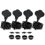 4R Black Bass Guitar Machine Heads Knobs Tuners Tuning Pegs Guitar Parts