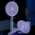 2-in-1 Digital Display Photocatalyst Automatic Mosquito Swatter Household USB Charging