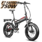 EU Stock F7 Folding Electric Bicycle 750W 48V 4.0 Fat Tires Up to 45km/h 13.6Ah Battery Electric EBike for Adults