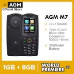 AGM M7 4G Louder Sound Rugged Phone 1GB 8GB 2500mAh Mobile Phone Waterproof Type-C Touch Screen Feature Phone