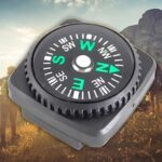 Compass With Leather Seat Watch Wrist Case Foreskin Cover Guide North Needle Gift Outdoor Travel   200pcs