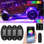 LED Color Car Chassis Lamp Bluetooth Remote Control Atmosphere Lamp Cool Car Chassis Decorative Lamp