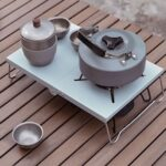 Ultralight Folding Table Insulation Stove Windshield Camping Mini Stove Table Heat Resistant Outdoor Picnic Table Coffee Tea Table