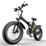 Janobike E20 Electric Bicycle Bike 60-70km Pedal Assistant 48V 1000W Motor 20IN Wheel Smart Meter Seat Height Adjustable