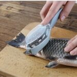 Fish Scales  Fish Cleaning Tool Scraping Scales Device with Cover Home Kitchen Cooking