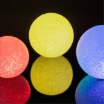 Holding Luminous Ball  Creative Crystal Rice  Small Night Light Toy Annual Meeting Performance  Chorus Performance Props