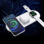 LEEHUR 3 in 1 Fast Wireless Charger For iPhone 12 11 Pro XS MAX X XR 8 Qi 3.0 Charging For iWatch Airpods Pro 2