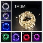 LED Outdoor Lamp String Lights Holiday Christmas Party Garland Copper Wire Battery Box Garden Home Decoration Party Decoration