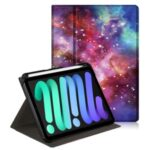 Pattern Printing Rotary Adjustable Stand Leather Tablet Case Shell for iPad mini (2021)