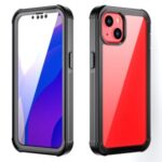 Full Coverage Anti-Drop Shockproof Scratch-Resistant PC TPU PET Hybrid Case for iPhone 13 6.1 inch