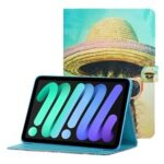Magnetic Clasp Stylish Pattern Printing Shockproof Card Holder Design Leather Stand Case for iPad mini (2021) – Cactus
