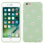 Slim Light-Wight Daisy Pattern Printing Matte Soft TPU Protective Back Case for iPhone 6 Plus 5.5 inch – Green