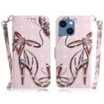 Light Spot Decor Pattern Printing Wallet Stand Leather Phone Case with Carrying Strap for iPhone 13 mini 5.4 inch – High Heels