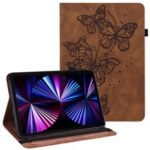 Butterflies Imprinted Scratch-Resistant Well-Protected Anti-Fall Tablet Case with Stand for iPad Pro 11-inch (2021)/Air (2020) –  Brown