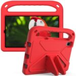 Portable Handle Design Shockproof EVA Tablet Case Cover with Kickstand Design for Samsung Galaxy Tab A 8.4 (2020) SM-T307U – Red