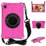 Kickstand Design Spider Web Texture EVA Tablet Cover Protective Case with Shoulder Strap for Samsung Galaxy Tab A7 Lite 8.7-inch – Rose