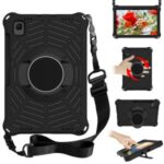 Spider Web Texture EVA Tablet Cover Case with Kickstand Shoulder Strap for Samsung Galaxy Tab S5e 10.5 (2019) SM-T720/T725 – Black