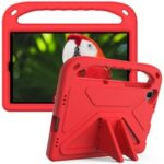 Hand-Hold Grip EVA Tablet Case with Foldable Dual Angle Kickstand for Lenovo Tab M10 HD Gen 2/Tab M10 Plus TB-X606 – Red