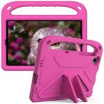 Hand-Hold Grip EVA Tablet Case with Foldable Dual Angle Kickstand for Lenovo Tab M10 HD Gen 2/Tab M10 Plus TB-X606 – Rose