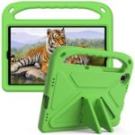 Hand-Hold Grip EVA Tablet Case with Foldable Dual Angle Kickstand for Lenovo Tab M10 HD Gen 2/Tab M10 Plus TB-X606 – Green