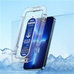 REMAX Monarch Series HD Transparent Film-Sticking Case Tempered Glass Screen Film Installation Frame Shell for iPhone 13 Pro Max 6.7 inch