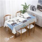 140x140cm Christmas Pattern Table Cover Decoration Water-absorption Tablecloth New Year Party Dining Table Mat – Style 1