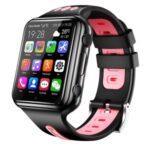 W5 4G GPS 512MB+4GB WiFi Bluetooth Smart Watch Waterproof Telephone Watch with SOS/HD Video Call for Kids – Black/Pink