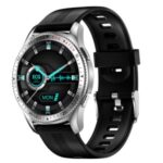 ES08 1.28inch IPS HD Screen Sports Bracelet ECG+PPG Heart Rate Monitor Bluetooth Call Smart Watch, Silicone Strap – Silver