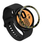 Decorative Stainless Steel Watch Bezel Ring Cover Protector for Samsung Galaxy Watch4 40mm – Black/Yellow