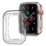 Full Protection Transparent TPU Protective Watch Case Cover for Apple Watch Series 7 41mm
