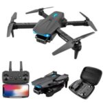 S89 4K HD Folding Drone Aerial Photography Quadcopter RC Aircraft Toy with Dual Cameras/Headless Mode (Single Battery Version) – Black