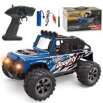 58620 2.4G Wireless RC Off-road Vehicle 1/18 Electronic Climbing Car Model Toys With Lights for Children – Blue