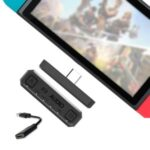 Bluetooth 5.0 Type-C Adapter Audio Transmitter with USB Converter Cable for Nintendo Switch Lite PS4 PC